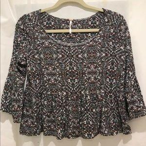 Free People women's flower design blouse